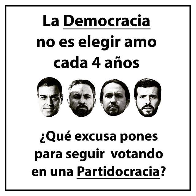 democracia no es votar cada 4 años