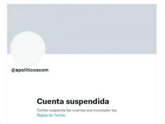 Twitter cuenta suspendida